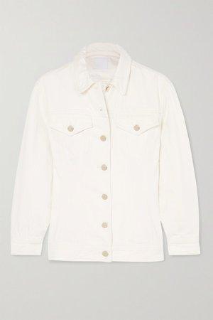 The Waisted Denim Jacket - White