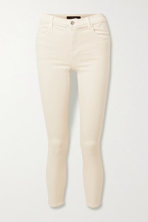 Alana Cropped High-rise Skinny Jeans - Cream