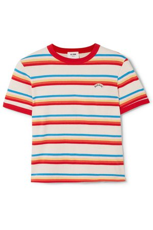 RE/DONE Seventies striped cotton-jersey T-shirt