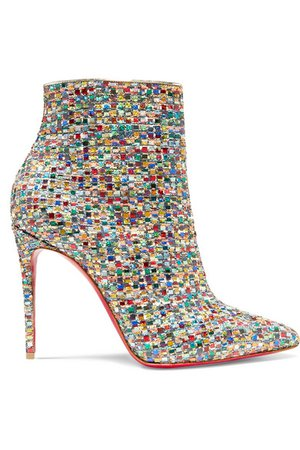 Christian Louboutin | So Kate 100 embellished tweed ankle boots | NET-A-PORTER.COM