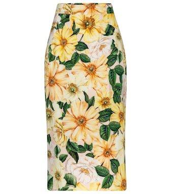 Dolce & Gabbana - Floral silk crêpe de chine blouse   Mytheresa