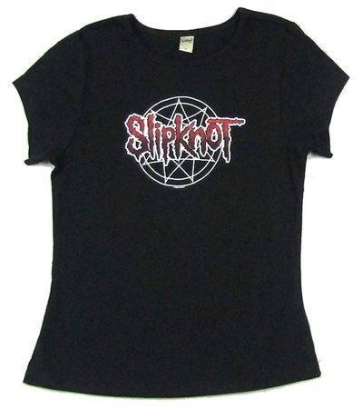 Slipknot Pentagram 666 Girls Juniors Black T Shirt New Official Band Merch | eBay