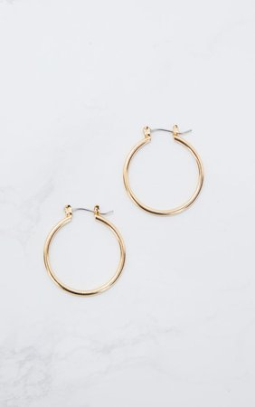 Gold Mini Hoop Earrings | Accessories | PrettyLittleThing