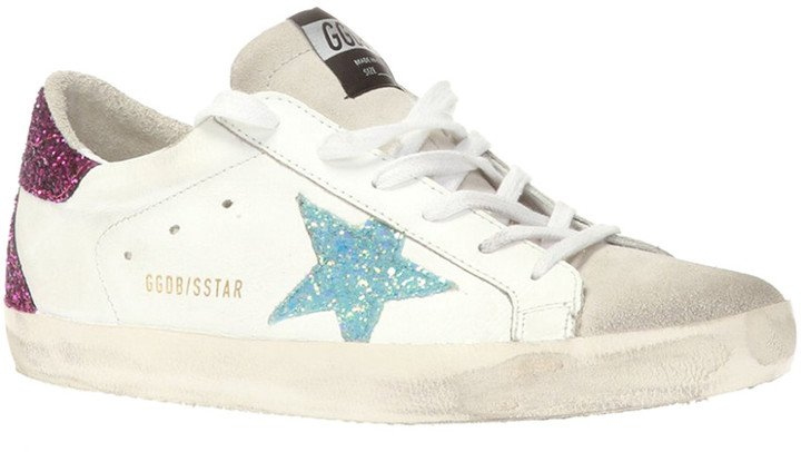 Superstar Glitter Leather Sneaker