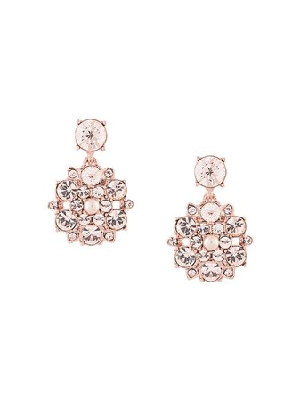 Marchesa floral-drop crystal earrings