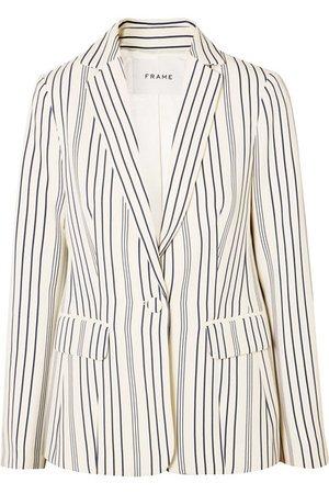 FRAME | Striped crepe blazer | NET-A-PORTER.COM