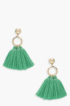 Kerry Circle Tassel Earrings