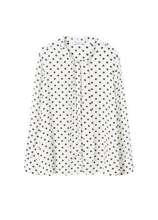 Violeta BY MANGO Bow polka-dot blouse