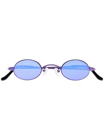 Roberi & Fraud Purple Doris Oval Sunglasses Aw19 | Farfetch.com