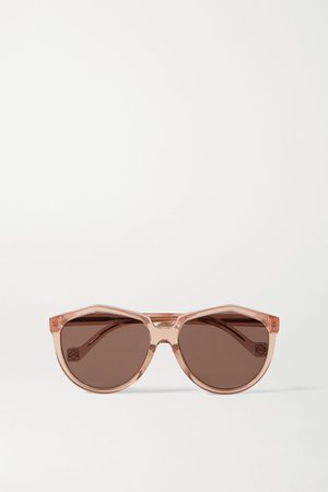 Antique rose Round-frame acetate sunglasses | Loewe | NET-A-PORTER