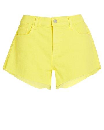 L'Agence Audrey Cut-Off Denim Shorts | INTERMIX®
