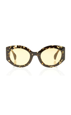 Kaleos Eyehunters Reed Oval-Frame Acetate Sunglasses