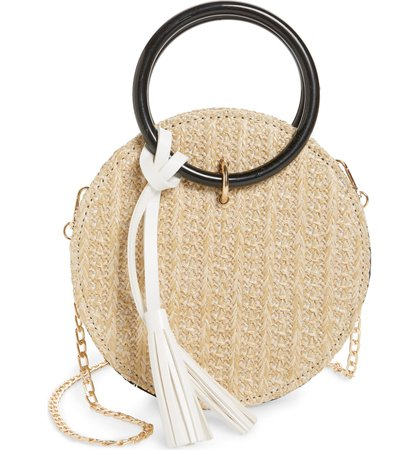 Knotty Round Straw Crossbody Bag | Nordstrom
