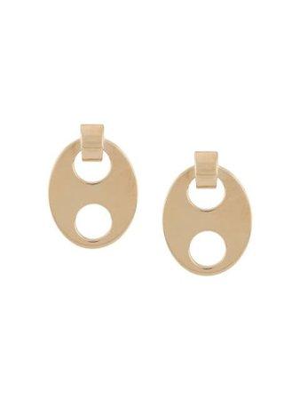 Paco Rabanne Oval cut-out Earrings - Farfetch