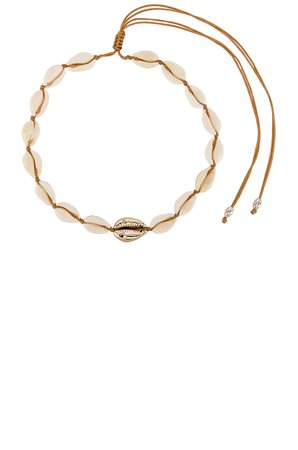 Single Gold Center Puka Choker
