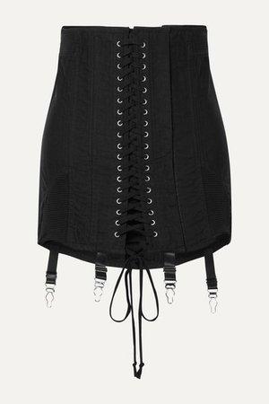 Orseund Iris   Gamine lace-up cotton-twill mini skirt   NET-A-PORTER.COM