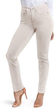 Slim Straight Leg Ankle Jeans