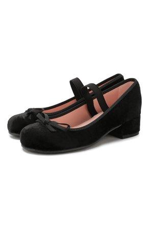Детские туфли с перемычкой PRETTY BALLERINAS черного цвета — купить за 7775 руб. в интернет-магазине ЦУМ, арт. 44.097/AFR0DITE-D0