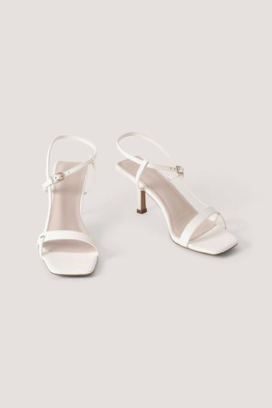 Strappy Buckled Heels White | na-kd.com