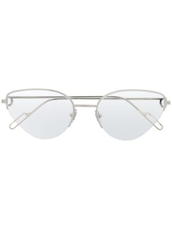 Cartier cat eye frame glasses