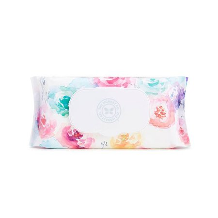 The Honest Company Printed Rose Blossom Baby Wipes - 72ct : Target