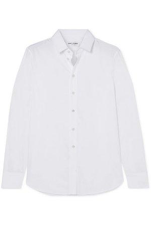 SAINT LAURENT | Cotton-poplin shirt | NET-A-PORTER.COM