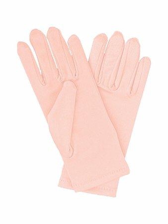 Peach Short Satin Gloves
