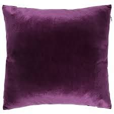 Velvet purple pillow