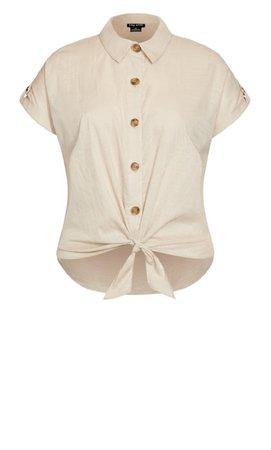 Shop Women's Plus Size Plus Size Explore Button Shirt - amber