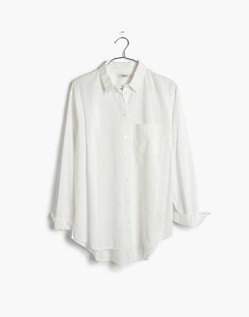 Women's Drapey Oversized Boyshirt in Pure White   Madewell