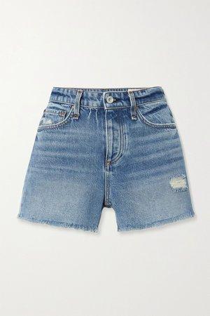 Dark denim Dre distressed denim shorts | rag & bone | NET-A-PORTER