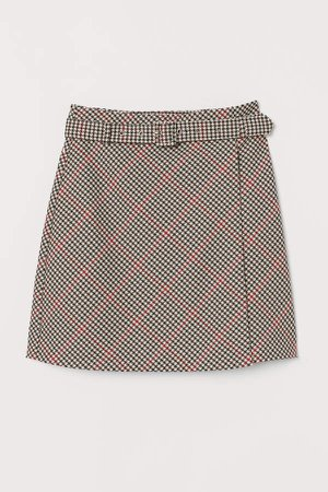 Skirt with Belt - Red