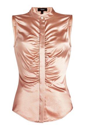 Sleeveless Silk blouse Gr. L