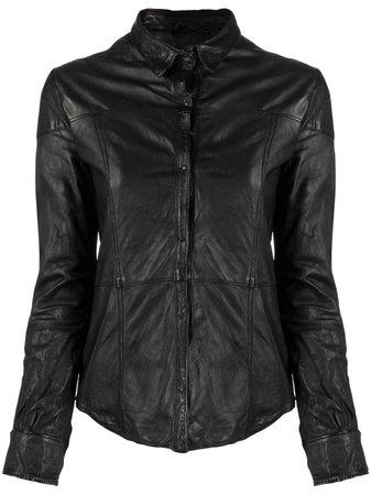 Giorgio Brato Buttoned Leather Shirt - Farfetch