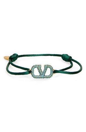 Valentino VLOGO Signature Pavé Cord Bracelet | Nordstrom