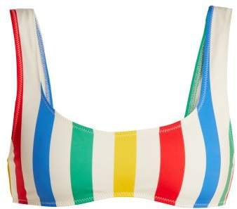 The Elle Striped Bikini Top - Womens - Multi Stripe