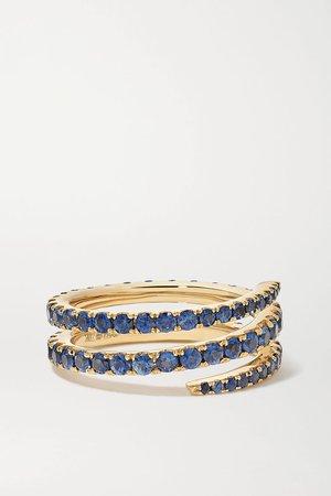 Gold 18-karat gold sapphire ring | Anita Ko | NET-A-PORTER