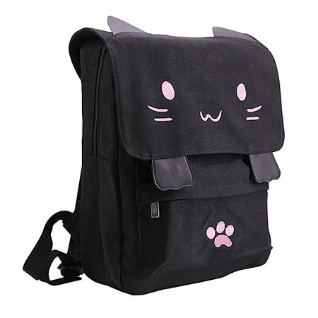 Amazon.com: Sprite Beat Cute Canvas Cat Print Backpack School Bag Light weight Book Bags Ruchsack College Backpack Daypack Backpacks for Girls / Boys (Pink): Sports & Outdoors