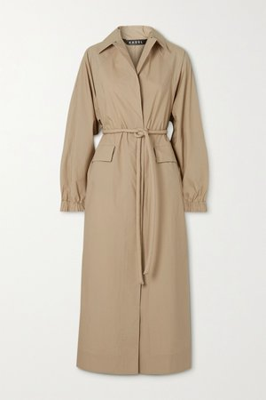 Beige Belted cotton trench coat | Kassl Editions | NET-A-PORTER