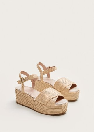 Wedge braided sandals - Shoes Plus sizes | Violeta by Mango USA