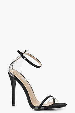Rosie Clear Strap Detail Heels