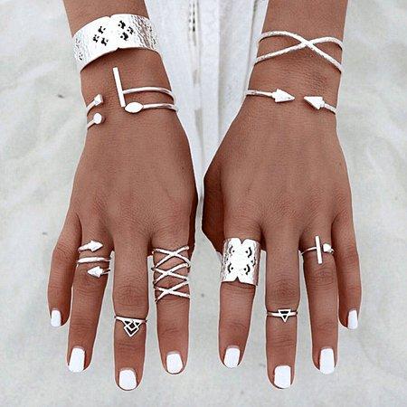 silver rings set - Recherche Google