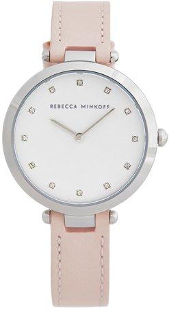 Nina Leather Strap Watch, 33mm