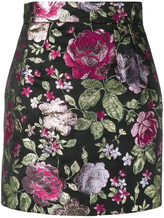 floral pattern skirt