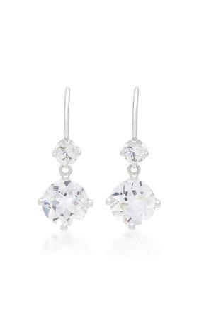 White Topaz 14K White Gold Drop Earrings by Jane Taylor | Moda Operandi