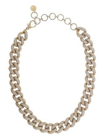 SHAY 18kt Rose Gold Jumbo Pave Diamond Link Choker - Farfetch