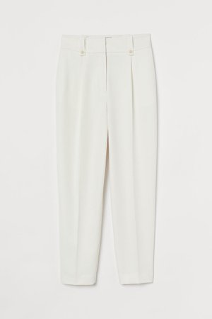 Ankle-length Pants - White