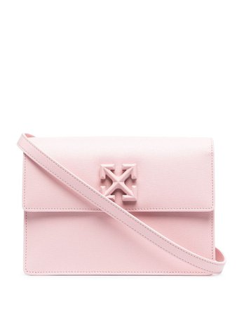 Shop pink Off-White Jitney shoulder bag with Express Delivery - Farfetch