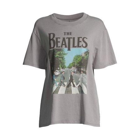 grey Scoop - Scoop Women's Beatles Abbey Road Crewneck Boyfriend T-Shirt - Walmart.com - Walmart.com