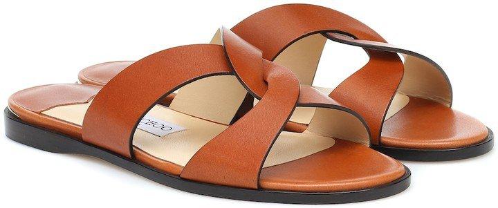 Atia Flat leather sandals